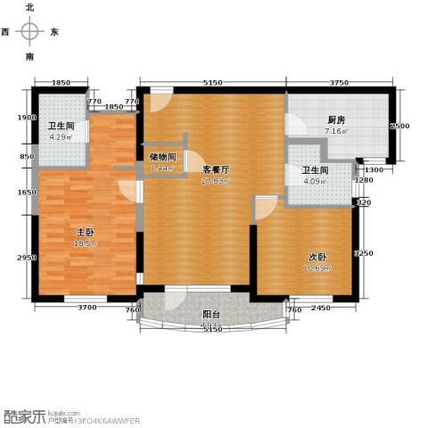 仁恒海河广场2室2厅2卫0厨112.00㎡户型图