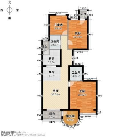 新天地鹭港3室2厅2卫0厨146.00㎡户型图