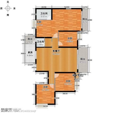 海宇西湖山水4室2厅2卫0厨167.00㎡户型图