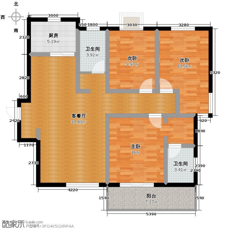 瑞丰新欣城128.00㎡C户型3室2厅2卫