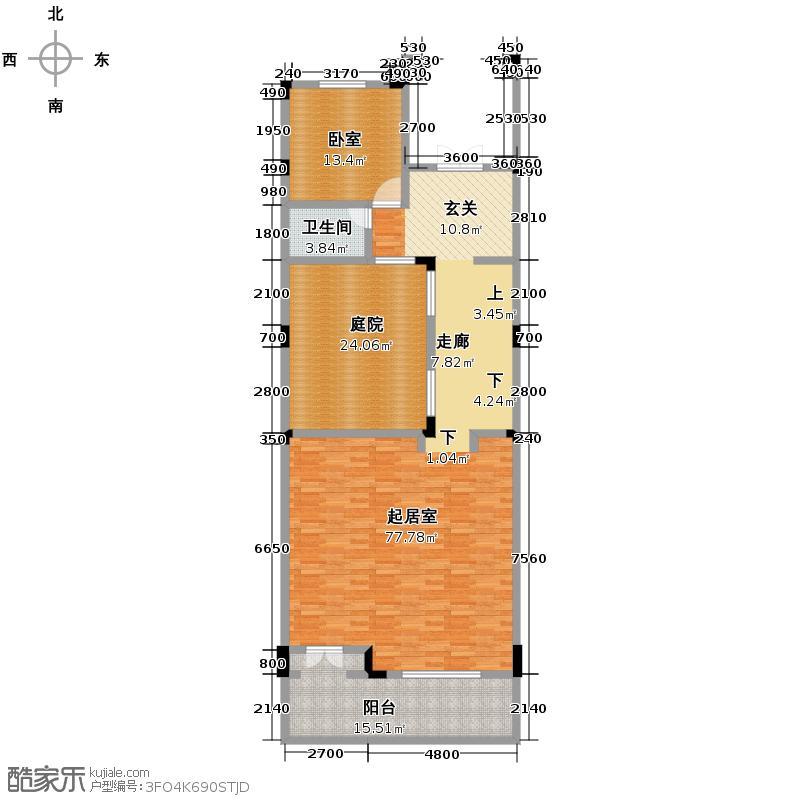 远洋高尔夫国际社区352.00㎡联排D-下坡中间-一层户型10室