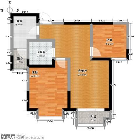 卓达・太阳城2室2厅1卫0厨90.00㎡户型图