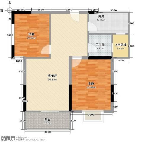 宝业光谷丽都2室2厅1卫0厨85.00㎡户型图