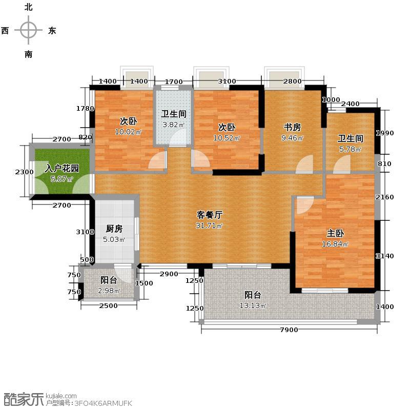奥园春晓124.00㎡楼王栋户型3室2厅2卫