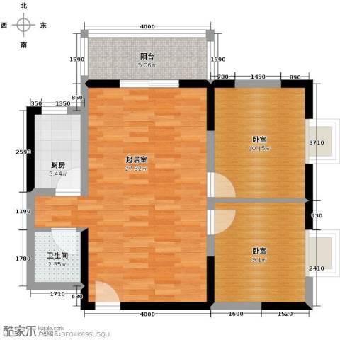 爱情公寓2室2厅1卫0厨84.00㎡户型图