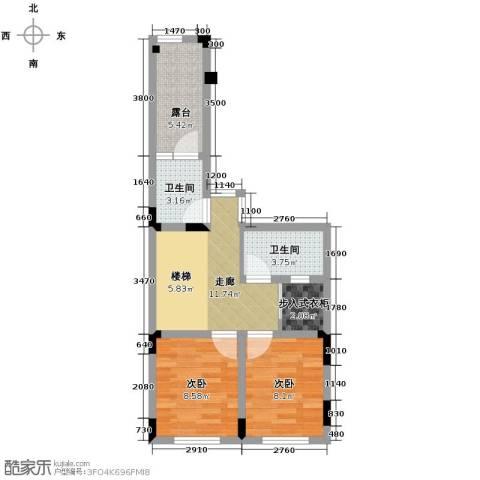 隆鑫72府2室0厅2卫0厨145.00㎡户型图