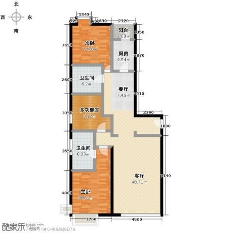 凯德锦绣3室2厅2卫0厨164.00㎡户型图