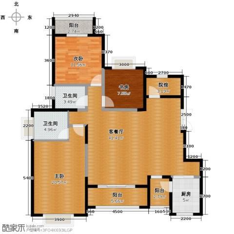 中国铁建山水时光3室2厅2卫0厨154.00㎡户型图