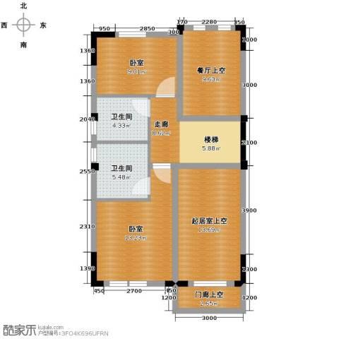 中惠团泊湾96.00㎡户型图