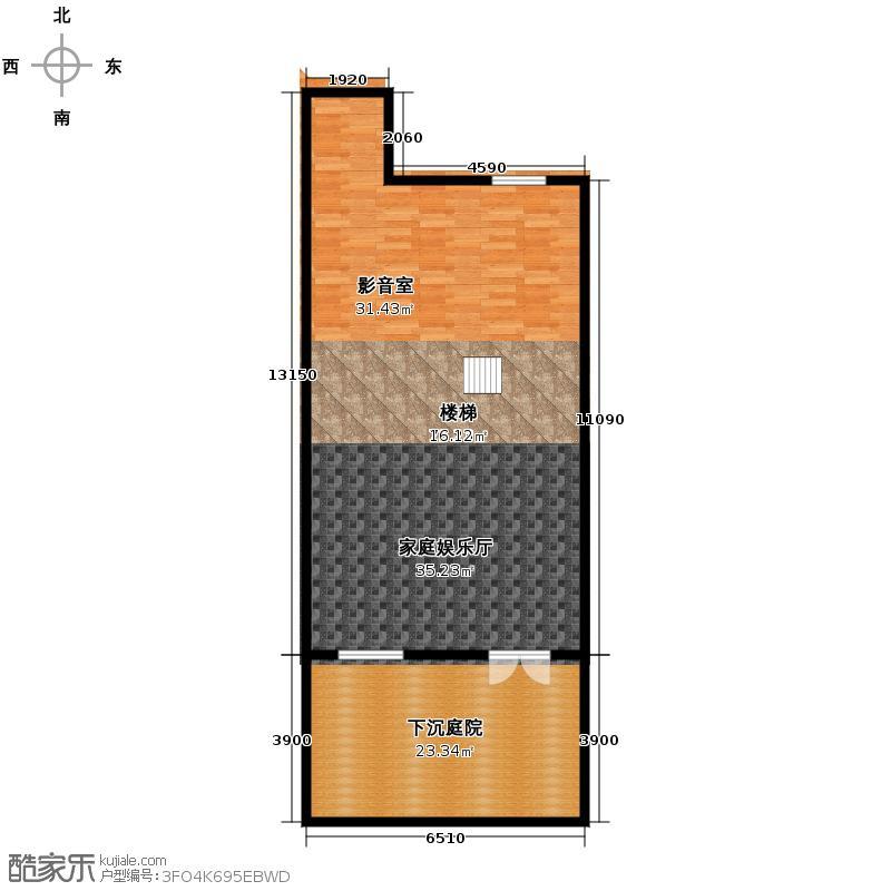 中惠团泊湾273.00㎡A会所层平面图户型10室