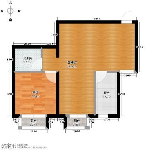 尚湖名筑1室1厅1卫1厨67.00㎡户型图