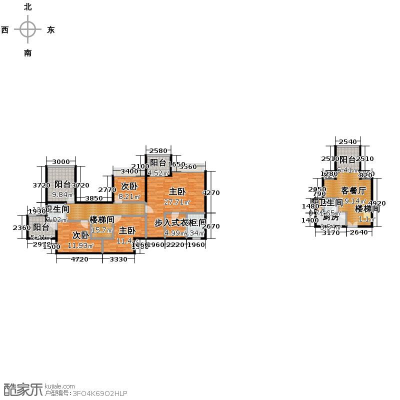 荣和中央公园157.57㎡户型10室