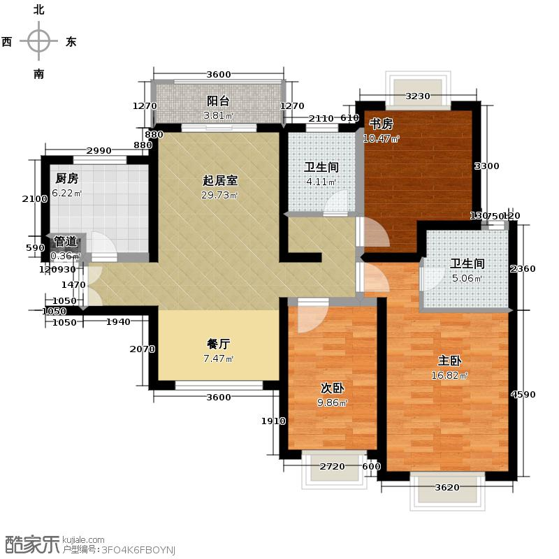 夏威夷水岸1号99.90㎡C公寓户型10室