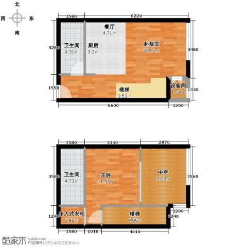 北京华贸城64.63㎡户型图