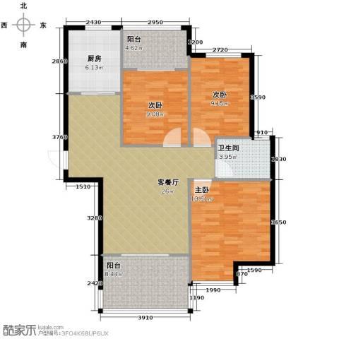 当代安普顿小镇3室2厅1卫0厨102.00㎡户型图