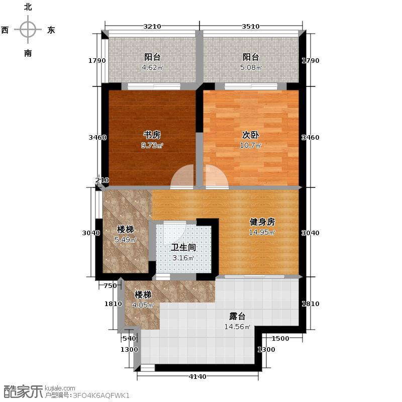 万基�御72.91㎡2011年5月开盘A2跃层上户型3室3厅2卫