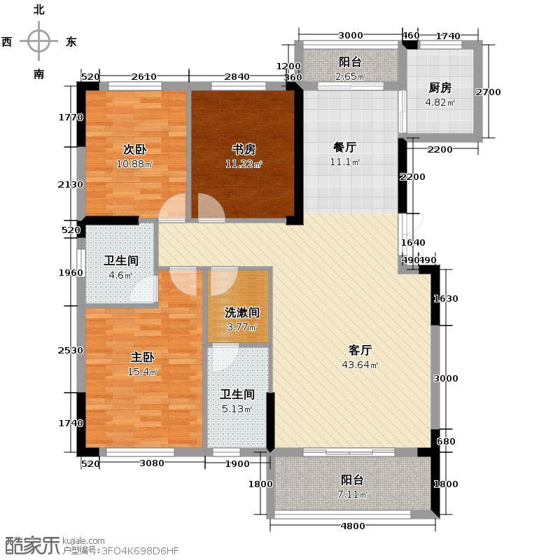 长沙欧洲城138.70㎡5A户型3室2厅2卫
