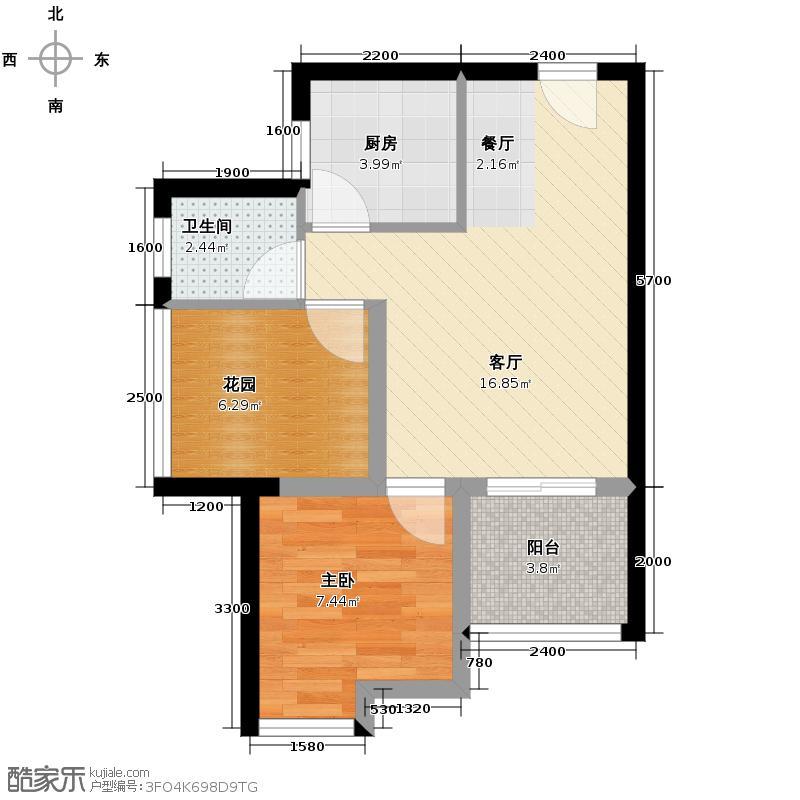 新长江香榭琴台四期墨园50.00㎡房型户型10室