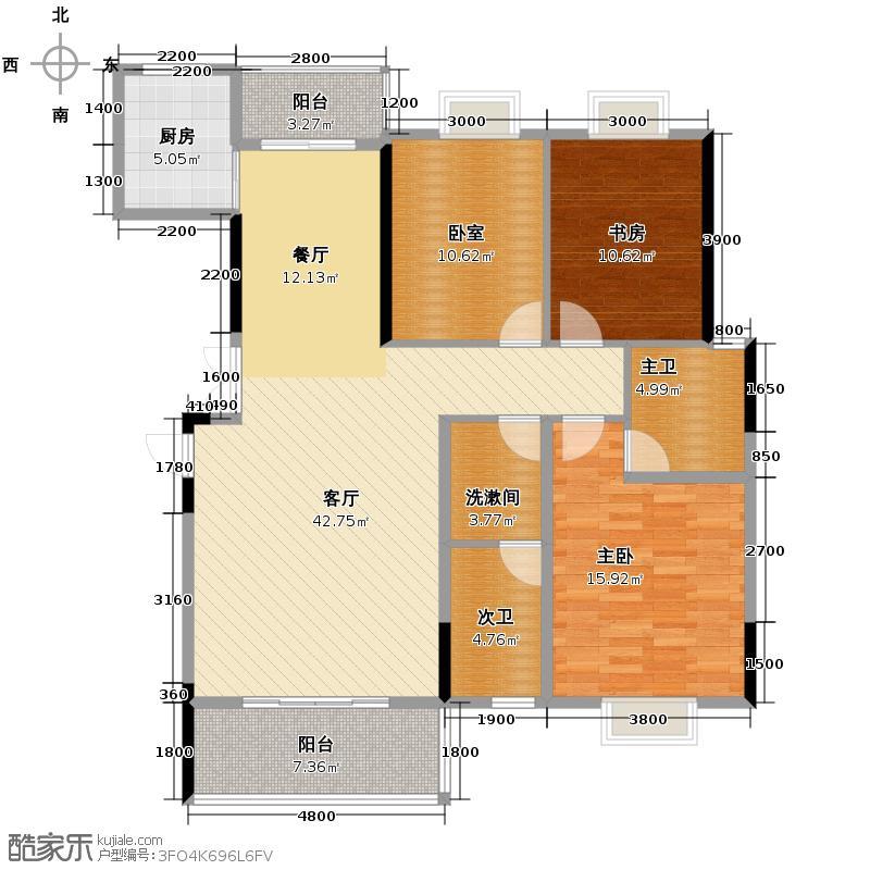 长沙欧洲城137.38㎡5C户型3室2厅2卫