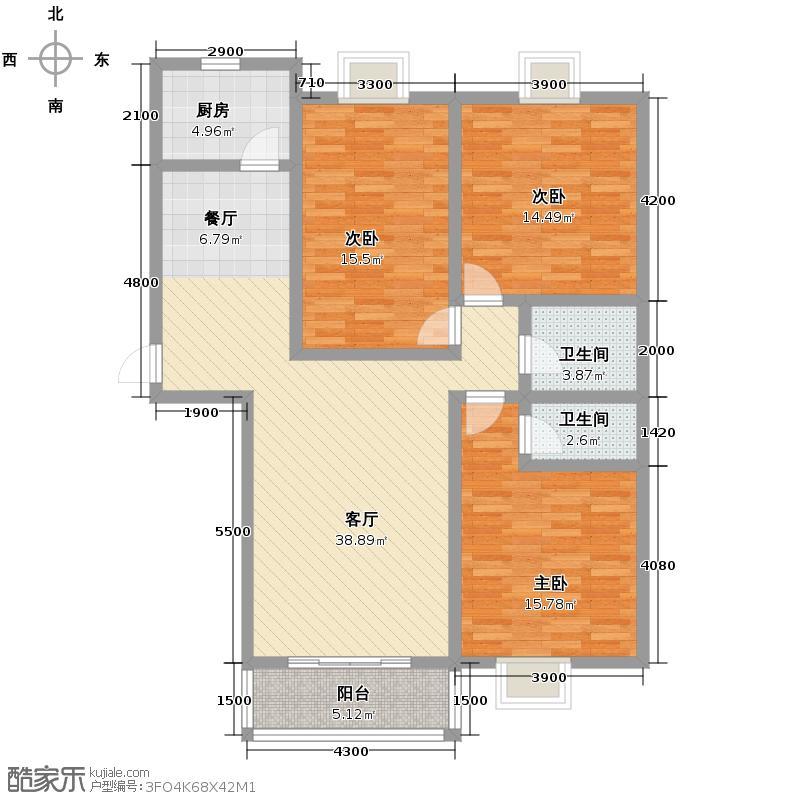 捷瑞新时代150.78㎡c-03户型3室1厅2卫1厨