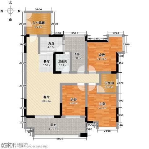 春江花月3室1厅2卫1厨97.20㎡户型图