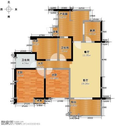 礼顿山1号3室0厅2卫1厨120.00㎡户型图