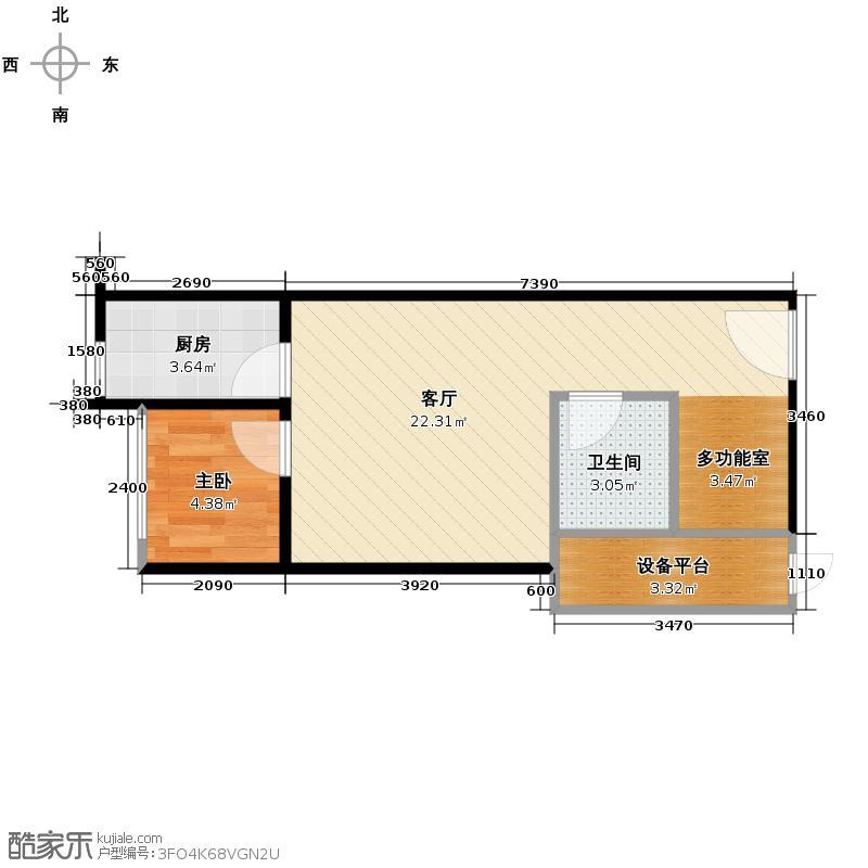 龙城国际39.70㎡22号楼V2单层户型10室