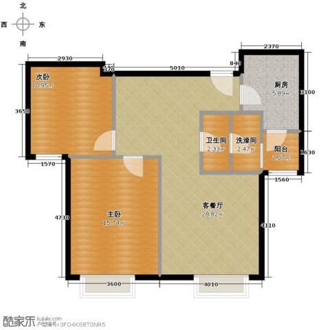 世茂生态城2室2厅1卫0厨86.00㎡户型图