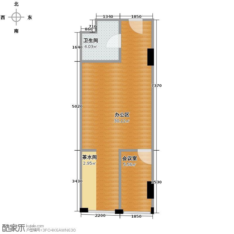 麦迪森广场44.88㎡B-2户型1室1厅1卫