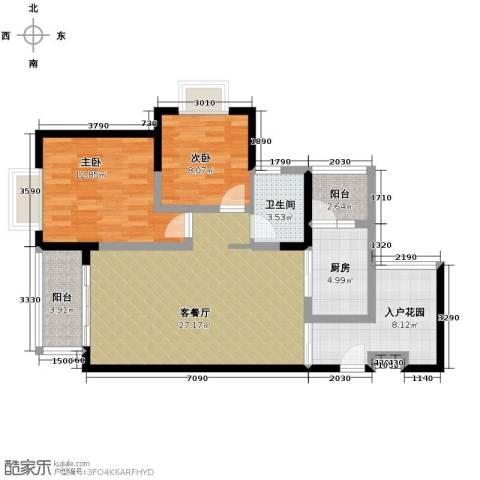 恒通御景天都2室1厅1卫1厨104.00㎡户型图