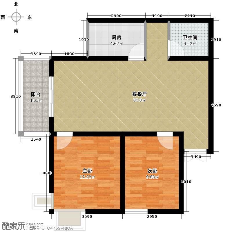 世融嘉城96.03㎡在售19号楼B38米客厅主卧270度观景飘窗户型10室
