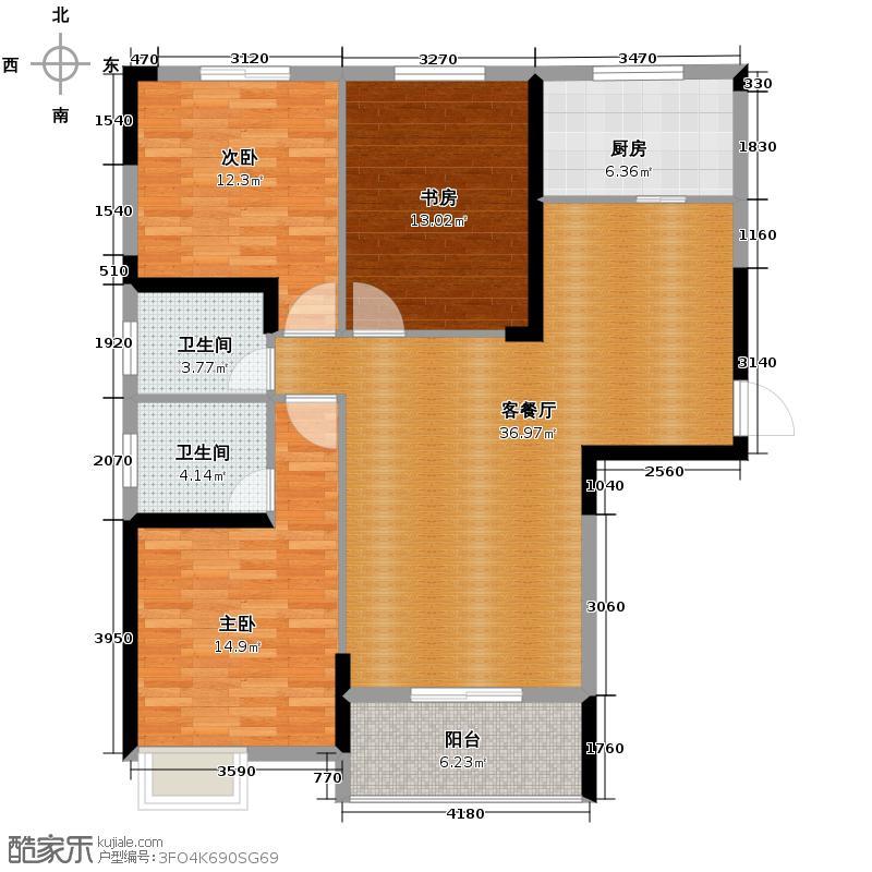 外滩三阳金城144.50㎡C1-2户型3室1厅2卫1厨