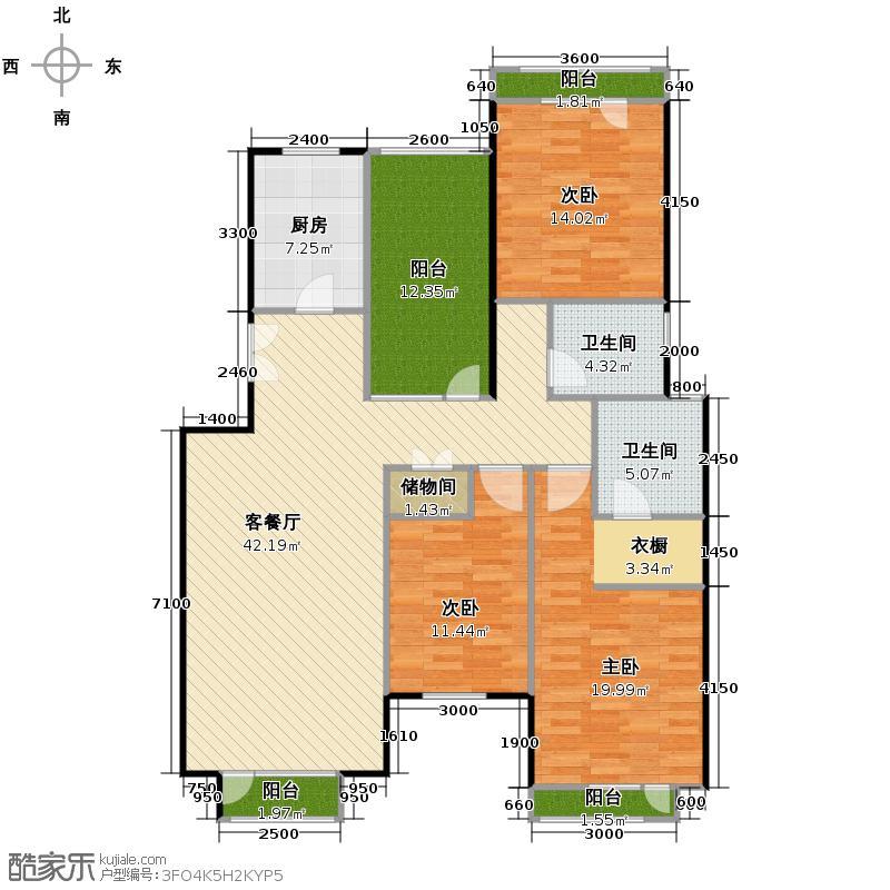 景瑞阳光尚城138.00㎡户型10室