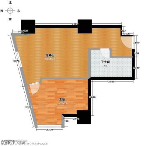 公园18721室1厅1卫0厨81.00㎡户型图