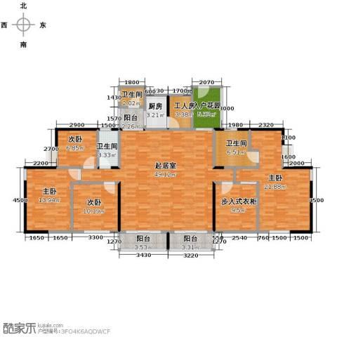 长江楚韵4室2厅2卫0厨160.00㎡户型图