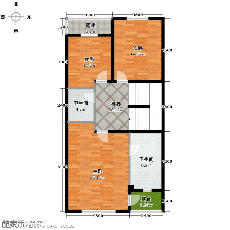 贻成水木清华95.22㎡别墅三期7H-2-01二层户型10室