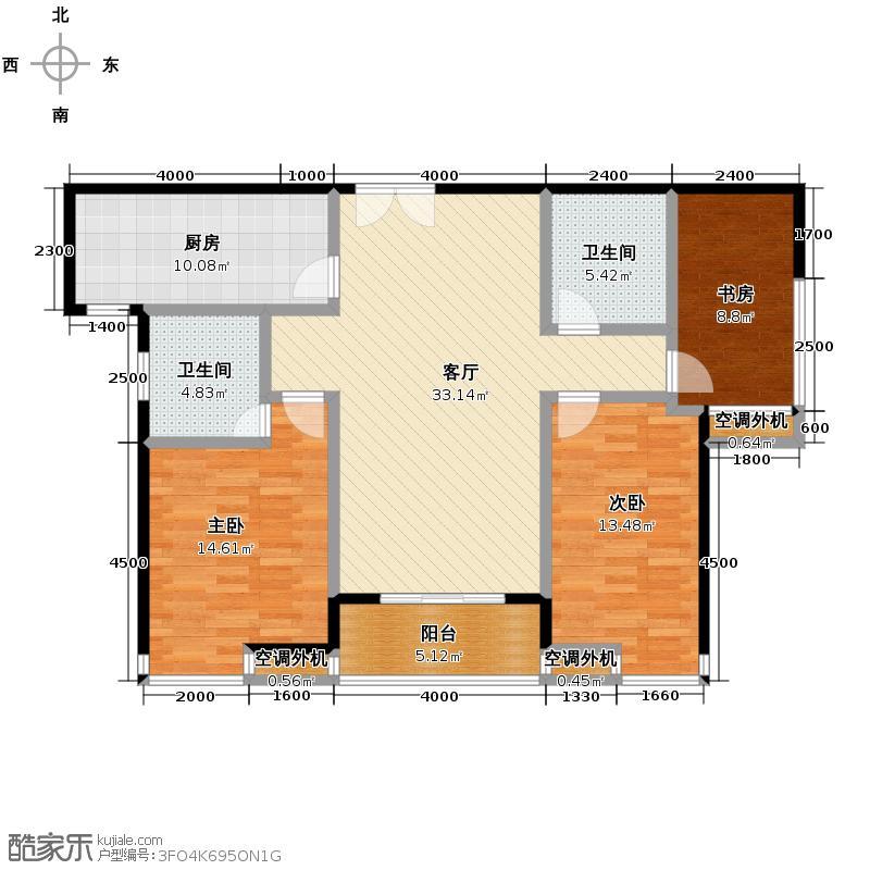 紫薇曲江意境110.41㎡3、14号楼室B-3户型10室