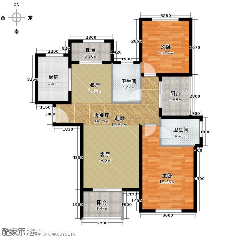 中冶圣乔维斯104.52㎡19号-9-1户型2室2厅2卫