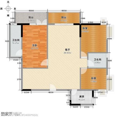 怡乐花园1室1厅2卫1厨137.00㎡户型图
