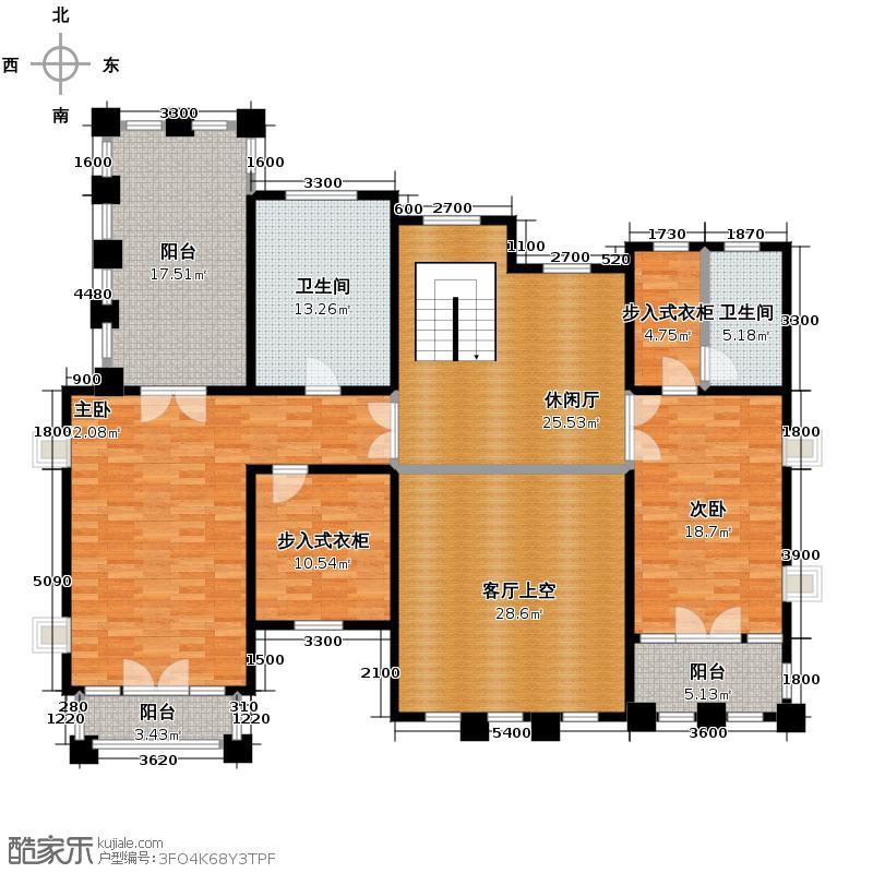 天恒・半山世家133.99㎡K二层平面图户型9室4厅5卫