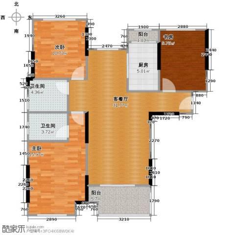 朗诗里程3室2厅2卫0厨109.00㎡户型图