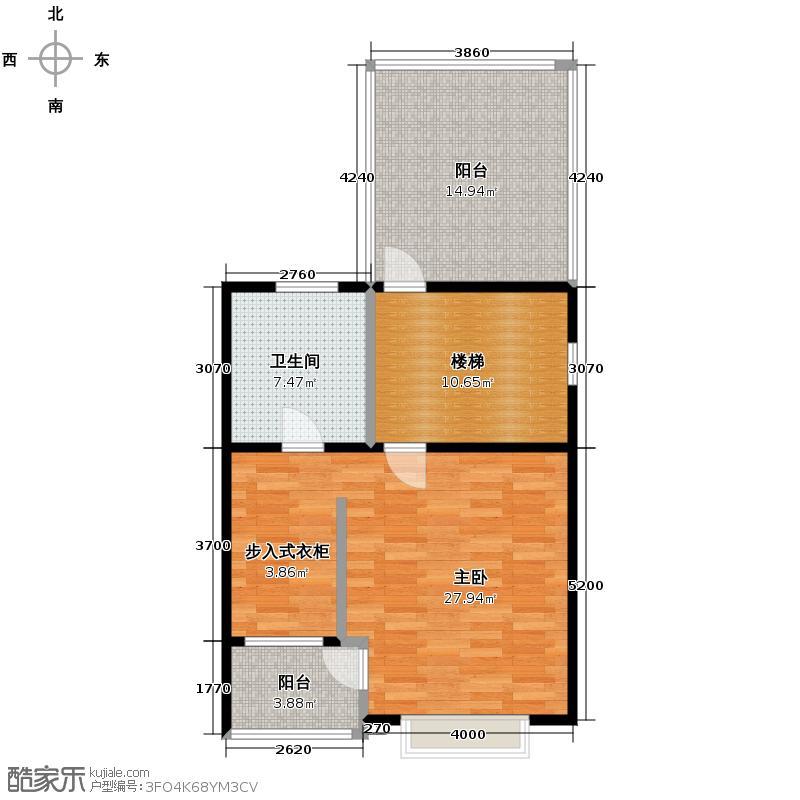 华韵欧风博文苑51.21㎡N2三层户型1室1厅1卫