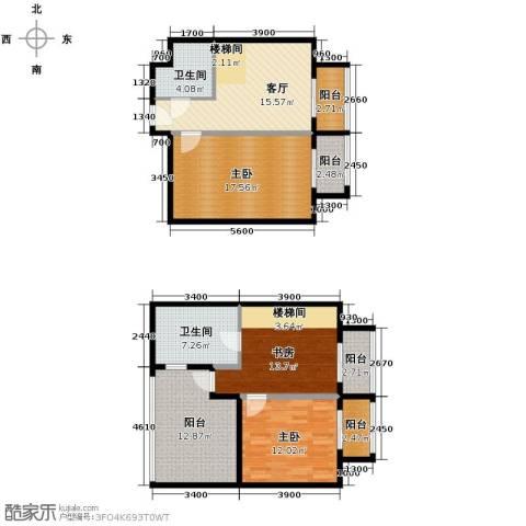 曲江澜山3室1厅2卫0厨113.00㎡户型图