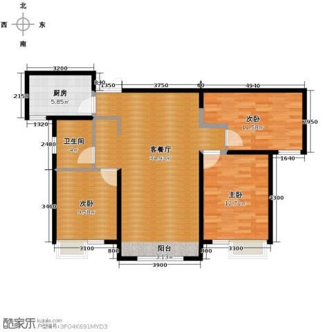路劲太阳城3室2厅1卫0厨113.00㎡户型图