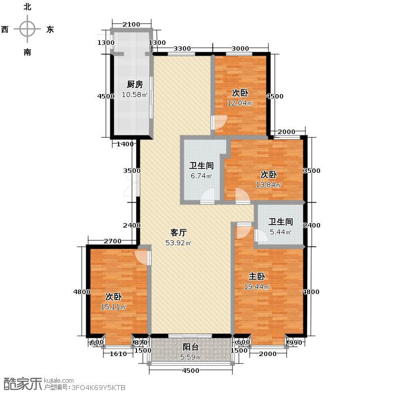 东景苑192.82㎡6号楼B户型4室2厅2卫