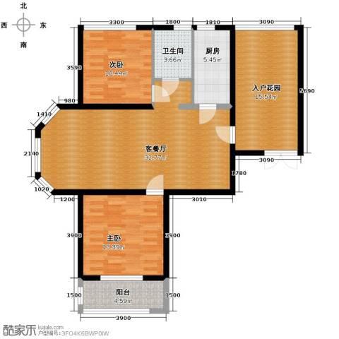 国仕山2室2厅1卫0厨115.00㎡户型图