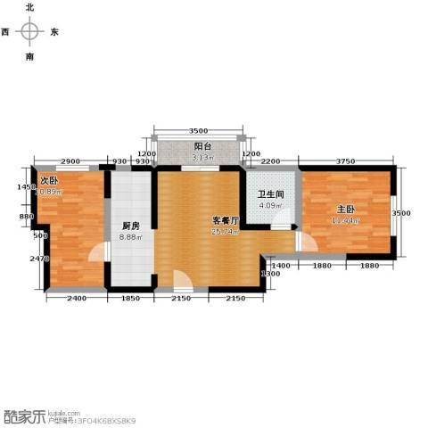 北宁湾2室2厅1卫0厨83.00㎡户型图
