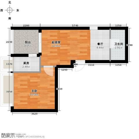 锦业时代1室1厅1卫0厨51.00㎡户型图