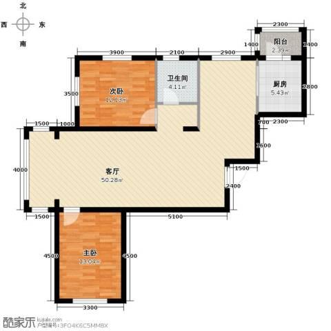 巴黎第五区2室2厅1卫0厨122.00㎡户型图