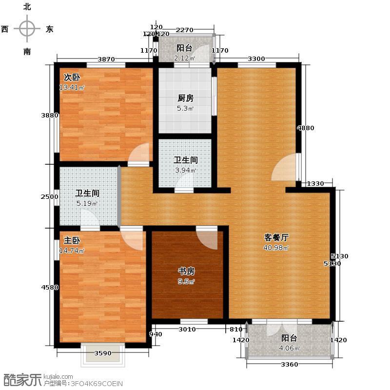 天一海馨园112.10㎡-户型10室